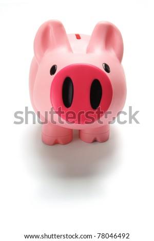 Piggy Bank on Isolated Background - stock photo