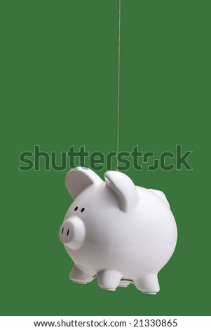 Piggy bank suspended - flying