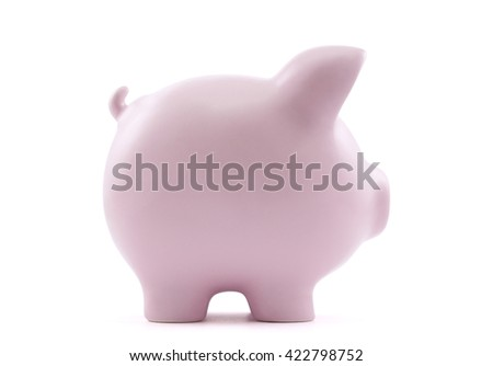 Piggy bank with clipping path  - stock photo