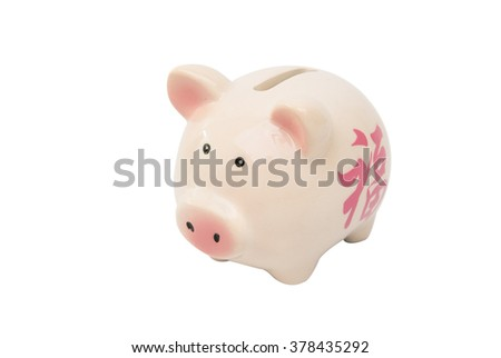 piggy pig isolated white background