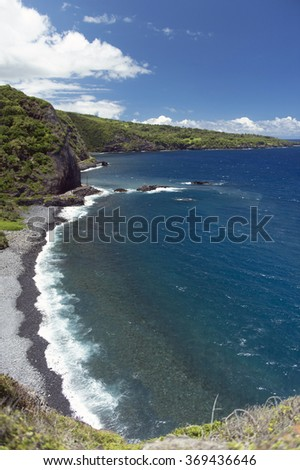 Piilani Highway, Maui, Hawaii -8  - stock photo