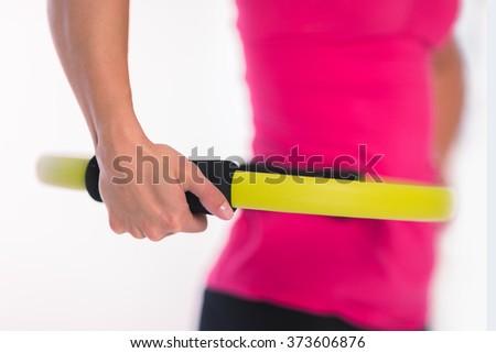 Pilates ring closeup - stock photo