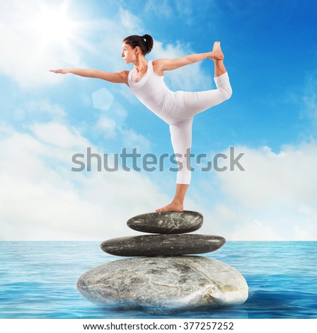 Pilates stone sea - stock photo