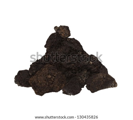 Pile dirt isolated on white background