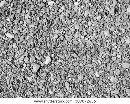 Pile Gravels , Pile crushed stone for construction background - stock photo