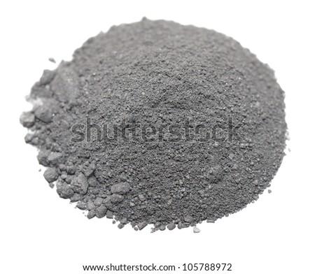 Pile Gunpowder (black powder) Isolated on white background - stock photo
