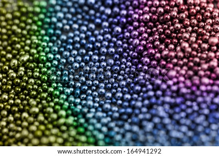 Pile multicolored balls of bead suitable for Background and texture - stock photo