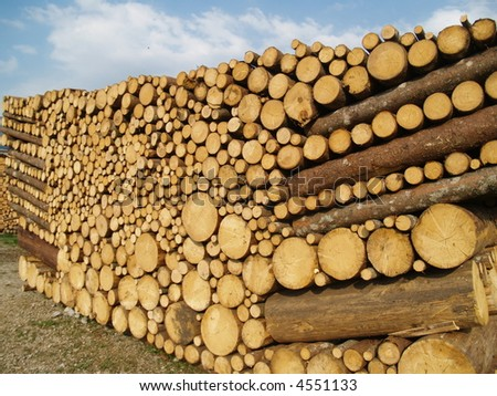 pile of a nice lumber - stock photo