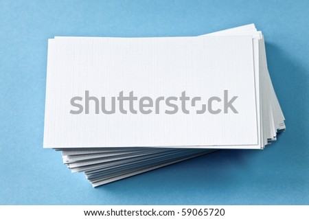 Pile of blank papers - stock photo