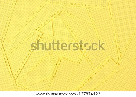 Pile of blank yellow pages - stock photo