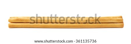 Pile of bread sticks isolated