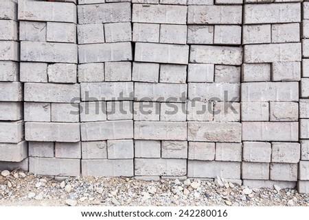 Pile of bricks - stock photo