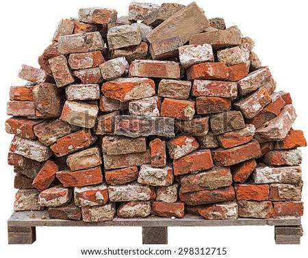 Pile Bricks Stock Photo 298312715
