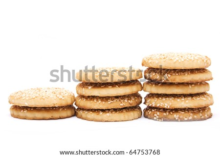 Pile Of  Chip Cookies Isolated On White Background