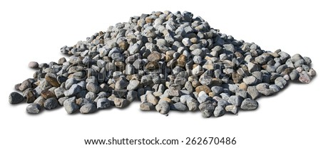 Pile of coal stones on white background.