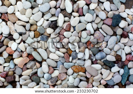 pile of colorful stones - stock photo