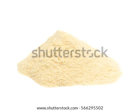 Pile of corn flour isolated over the white background