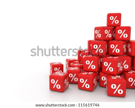 pile of 3d discount cubes - stock photo