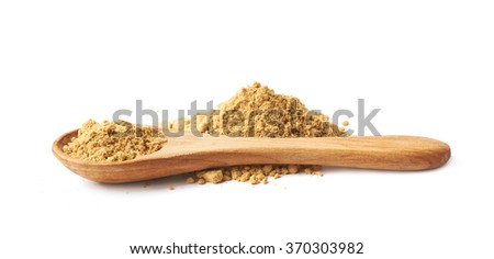 Pile of dry ginger powder isolated - stock photo