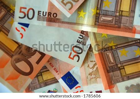 pile of euro bills - stock photo