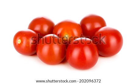 Pile of fresh cherry tomatoes - stock photo