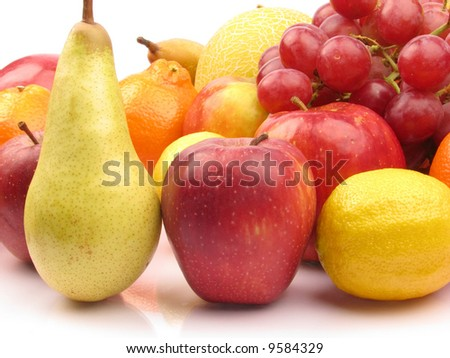 Pile of fresh Fruits. Shot in a studio