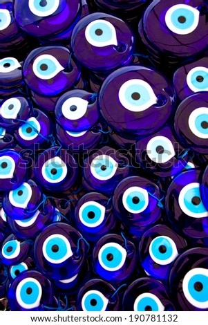 Pile of Glass Turkish Eyes