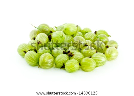 Pile of gooseberries isolated on the white background