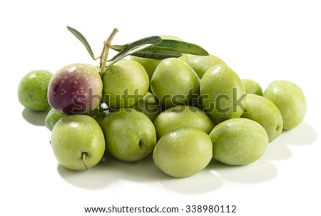 Pile of Green Olive - stock photo