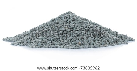 pile of green rock. isolated over white background