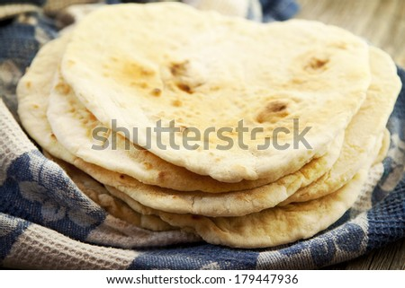 Pile of Homemade Tortillas Placed Over Each Other, Mexican Food