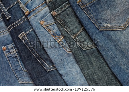 pile of jeans - stock photo