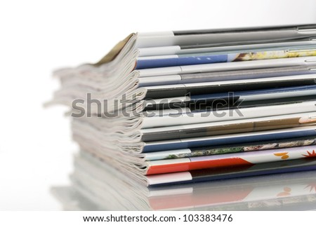 pile of magazines - stock photo