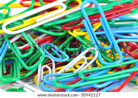 Pile of multicolored clamps