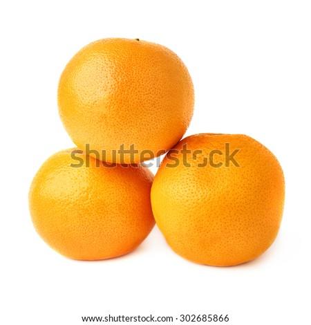 Pile of multiple ripe fresh juicy grapefruits, isolated over the white background - stock photo