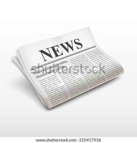 pile of newspaper isolated on white background
