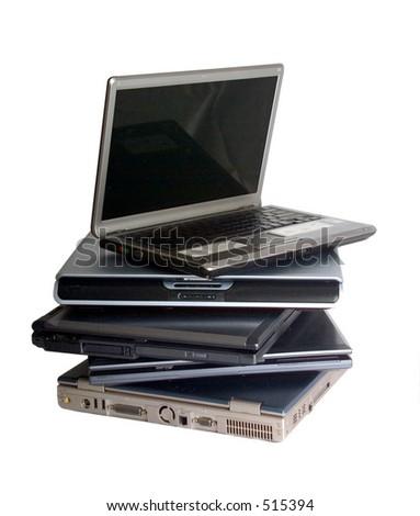 pile of notebooks - stock photo