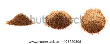 pile of oat/ three types of view/ isolated on white background - stock photo