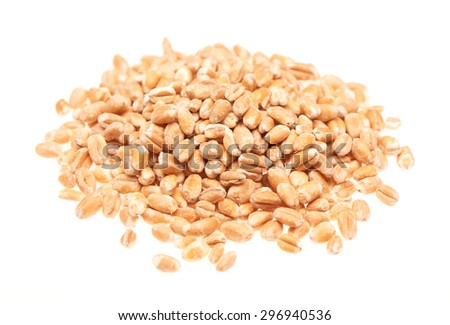 Pile of oats isolated on the white background