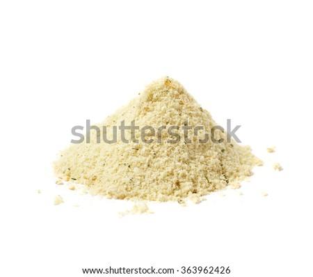 Pile of potato powder isolated - stock photo
