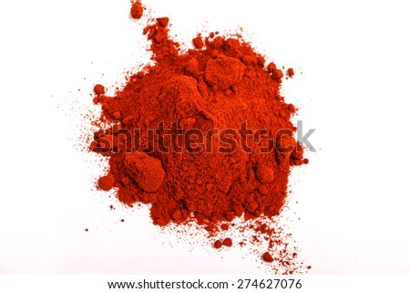 Pile of red paprika powder - stock photo