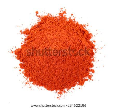 Pile of red paprika powder - stock photo