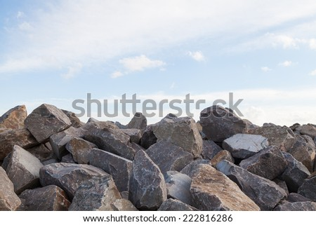 Pile of Rocks Boulders for Construction - stock photo