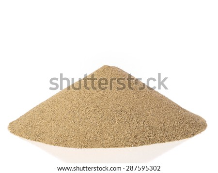 Pile of sand - stock photo