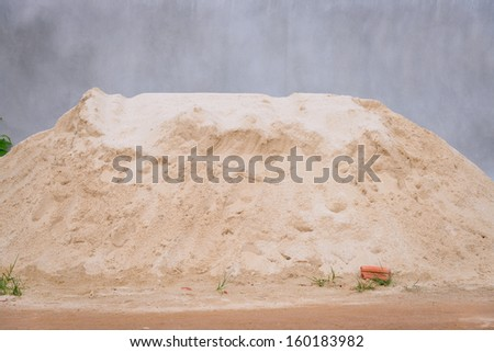 pile of sand for construction - stock photo