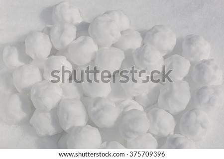 pile of snowballs for background - stock photo
