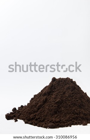 Pile of soil on the right side of the image.