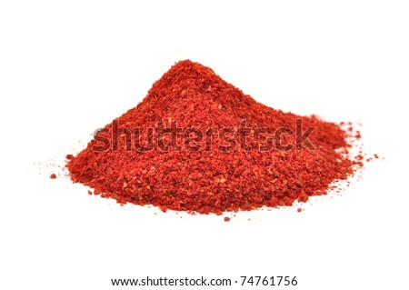 Pile of Tandoori Masala Isolated on White Background