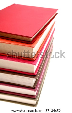 Pile of textbooks