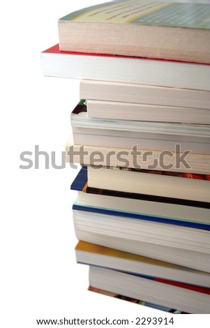 Pile of Various Different College Text Books